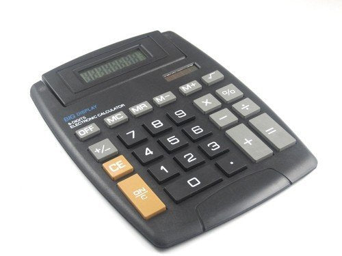 "Calculator 8 Digit Big Display Large Button Adjustable LCD Screen 5.5"" X 7.5"" ( Black )"