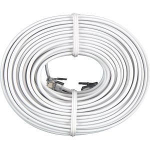 BoostWaves 50' Foot White Telephone Extension Cord Cable Line Wire RJ-11
