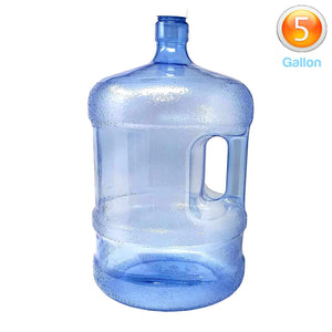 LavoHome BPA-Free Reusable Plastic Water Bottle 5 Gallon Jug Container with Cap, Easy Grip Carry Handle, Sports Residential & Commercial Use, Camping