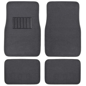 Front & Rear Carpet Car Truck SUV Floor Mats - Dark Grey