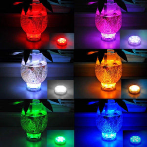 LavoHome 4x Led Waterproof Battery Powered Submersible Lights LED Accent Lights Night Lights Mood Lights with Ir Remotes for Wedding, Centerpiece, Halloween, Party Lights