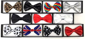 The Bowtie Shop - Pre-tied Adjustable Tuxedo Bow Ties, Mens
