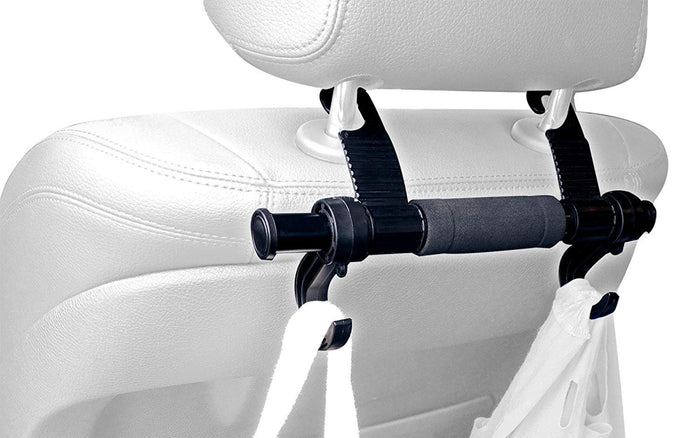 Universal Car Truck Headrest Hanger Storage Hooks - Purse Handbag Grocery Bag Holder