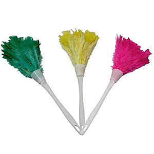 Genuine Feather Hand Duster Lightweight with Hanging Handle - Clean Delicate Surfaces!
