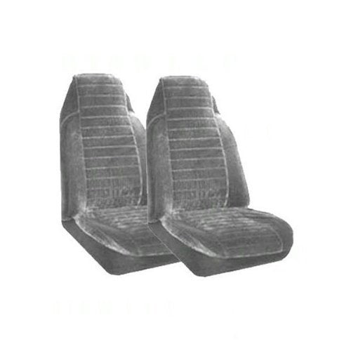 Set of 2 Universal Fit High Back Regal Pattern Front Bucket Seat Cover - Silver