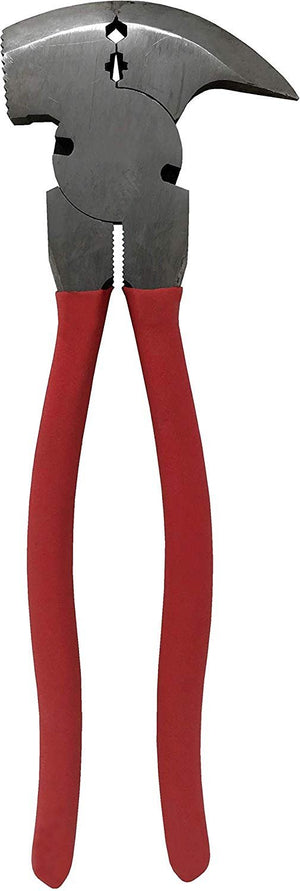 Fencing Pliers 10-1/2-Inch - Multi Purpose Heavy Duty Tool Soft Slip Resistant Drop Forged Heat treated
