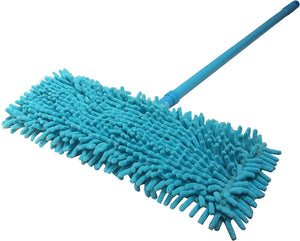 Microfiber Dust Mop with Handle Telescoping Pole Floor Cleaner Noodle Mop (Green)