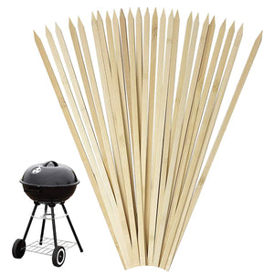 "16"" Bamboo Skewers for BBQ, Grilling, Appetizers, Fruits, Cocktails, Kabobs"