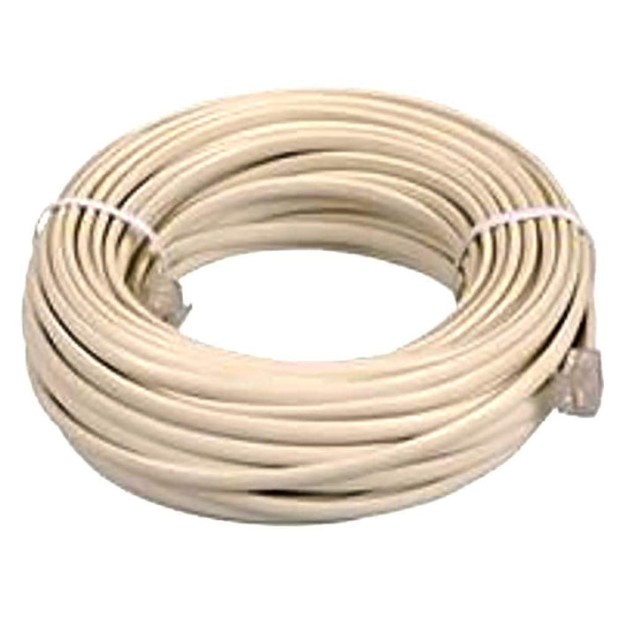 BoostWaves SuperClear 100' FT Foot Ivory Beige Telephone Extension Cord Cable Line Wire RJ-11