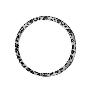 Animal Print Steering Wheel Cover - Snow Leopard