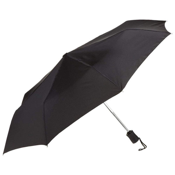 Black Umbrella, 42 inches Rain Snow Sun Travel Mini Folding Compact Men Women