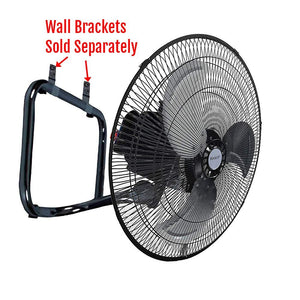 "Unique Imports Industrial Fan 18"" Floor Stand Mount Shop Commercial High Velocity Oscillating - 2 Year Warranty"