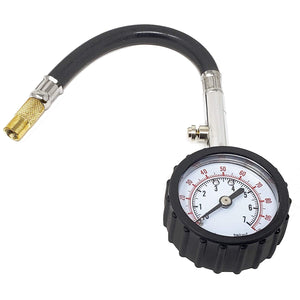 LavoHome Tire Pressure Gauge Meter | 0-60 0-75 0-100 PSI Gauge with Analog Dial | Heavy Duty for Truck Motorcycle Car Bike Tire | Garage Gifts Professional Keep in Trunk