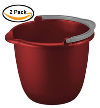 Load image into Gallery viewer, Sterilite 10 Quart Spout Pail, Classic Red