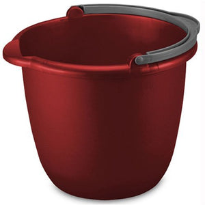 Sterilite 10 Quart Spout Pail, Classic Red