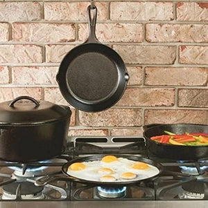 "Pre-Seasoned Kitchen Cooking Frying Pan Cast Iron Skillet Lodge Bake Fry (10"" Cast Iron Skillet)"