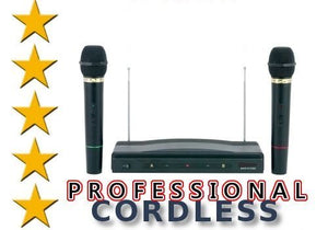 Royal Dual Handheld Wireless Microphone Starter Kit with Wireless FM Receiver