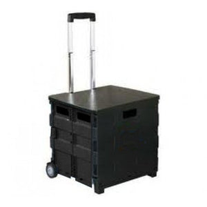Royal Collapsible Heavy-Duty Folding Office Cart with LID Mobile Filing Cart