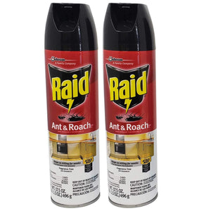 Lavo Home 2 Pack Raid Ant and Roach Bug Insect Killer-Fragrance Free, 17.5 OZ