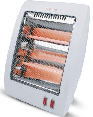 Unique Imports #1 Smart 800 Watt Quartz Heater Table Top Heat Portable & Adjustable Heat Royal - Safety Tipover Protection