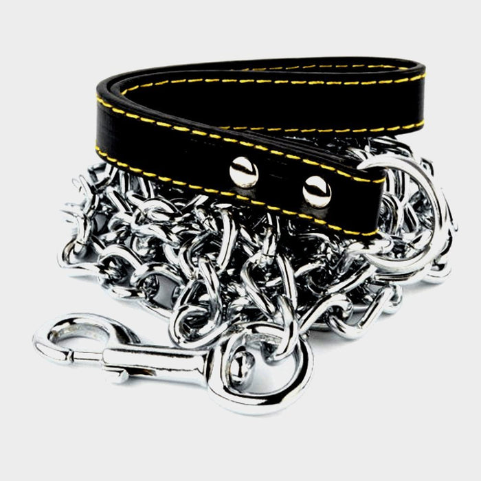 "ATE Tools 4 MM X 72"" Dog Chains Leash Leather Strap Heavy Duty Pets Train"