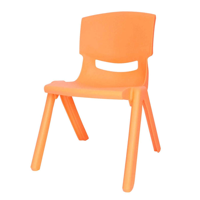 Kids Plastic Chair Small Yellow Stacking School Chairs, for Childrens Preschool Kid Playroom and Stackable Table, Children and Toddler Sitting Stools Heavy Duty Lifetime - 1 Pack