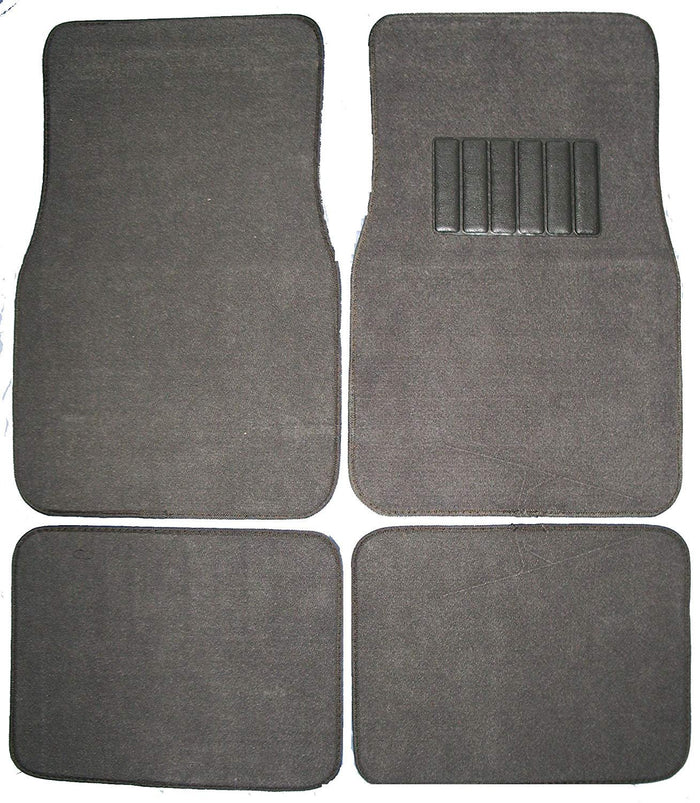 Front & Rear Carpet Car Truck SUV Floor Mats - Charcoal