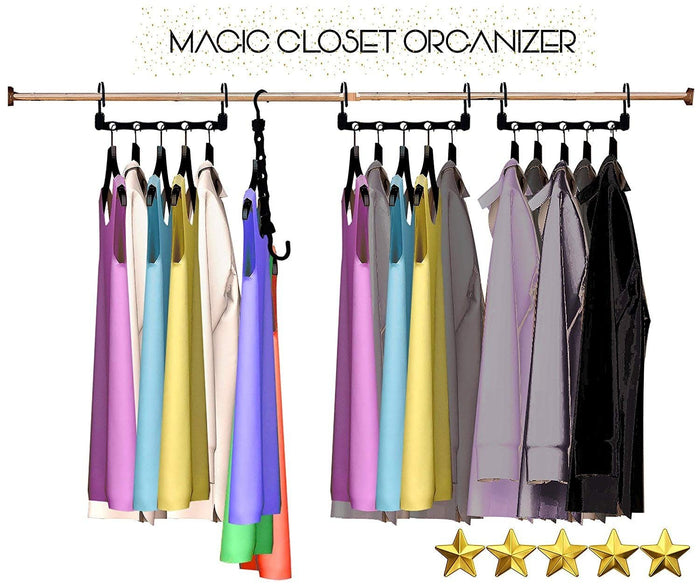 Magic Hangers As Seen on Tv Save Closet Space Clothes Organizer Purse Set of 10 - Lifetime Warranty