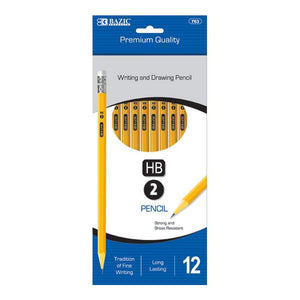 BAZIC #2 Premium Yellow Pencil (12/Pack) (Case of 144)