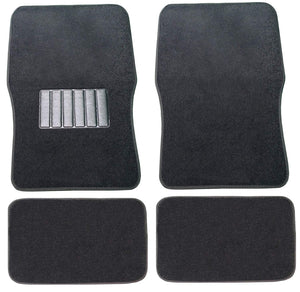 Unique Imports Premium Car Floor Mats Carpet Solid Black 4pc Front Rear For Volkswagen VW Beetle