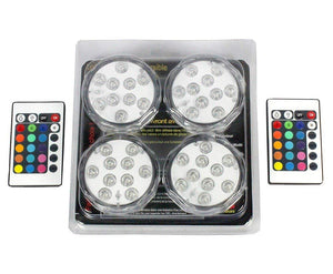 Essential Décor Entrada Collection 4-Piece Led Light Multicolor, 2.76 by 2.76 by 1.18-Inch