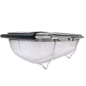 Stainless Steel Over the Sink Mesh Kitchen Strainer with Extendable Handles