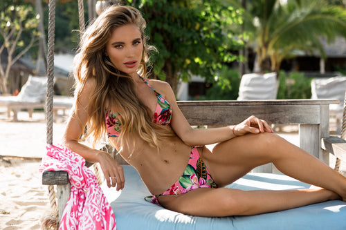 French Blossom Triangel Bikini