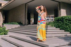 Artsy Kaftan med lång ärm - Resort Collection - www.kaandabeachlife.se