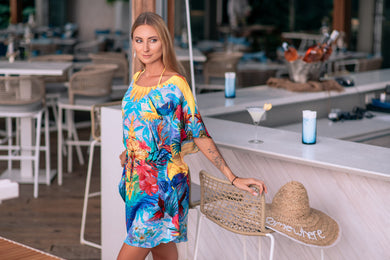Andressa kort Kaftan - Resort Collection - www.kaandabeachlife.se