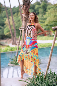 Artsy High Neck Dress - Resort Collection