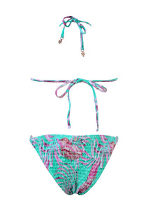 Frisco Smocked Triangle Bikini