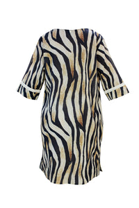 Greta Dress Golden Tiger - Resort Collection