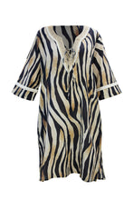 Load image into Gallery viewer, Greta Dress Golden Tiger - Resort Collection
