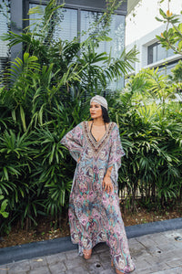 Maroon Bay Maxi Kaftan - Resort Collection