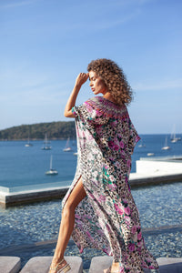 Rose Leo Godiva Maxi Kaftan - Resort Collection