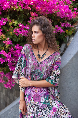 Rose Leo Diana Short Kaftan - Resort Collection