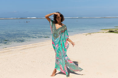 Frisco Long Kaftan - Resort Collection