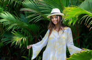 Bianca Kaftan Yellow - Resort collection