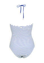 Load image into Gallery viewer, Maritima Striped Hög Halter Baddräkt - www.kaandabeachlife.se
