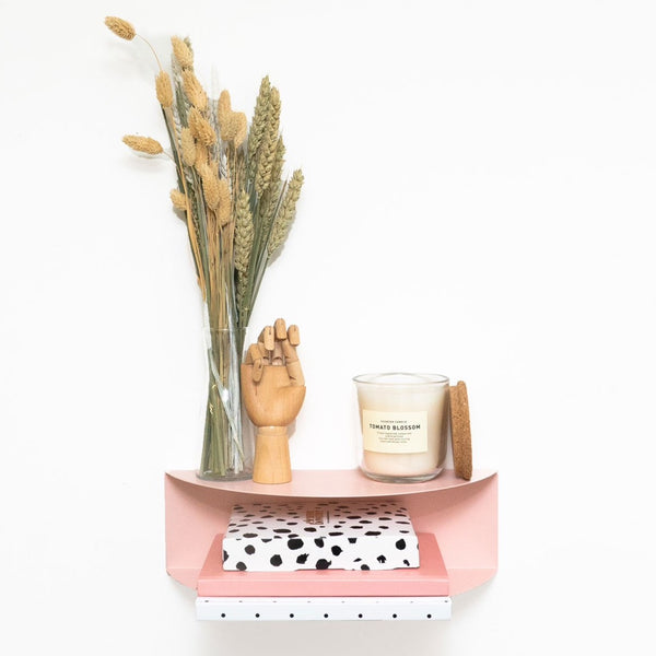Arc Double Shelf | Blush Pink