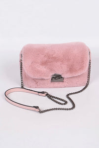 Faux Fur Mini Clutch