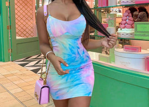 Multicolor Tye-Dye Dress