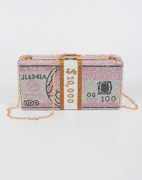 Crazy Rich Stoned Clutch