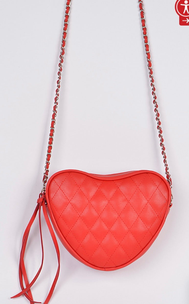 Quilted Heart Clutch
